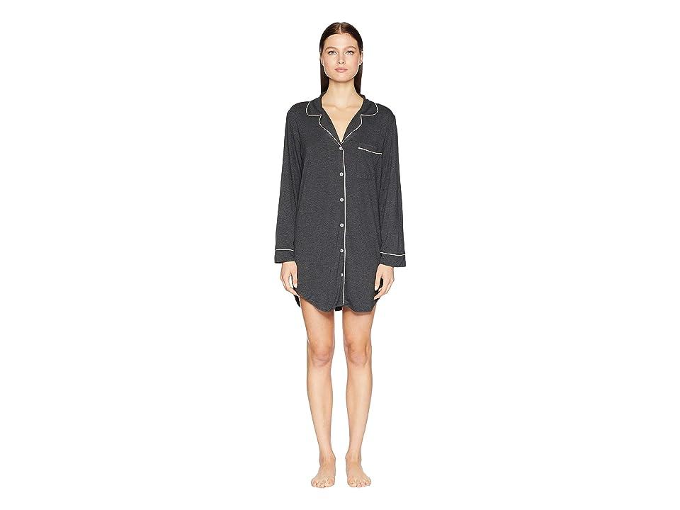 Eberjey Gisele The Boxed Sleepshirt (Charcoal Heather/Bellini) Women