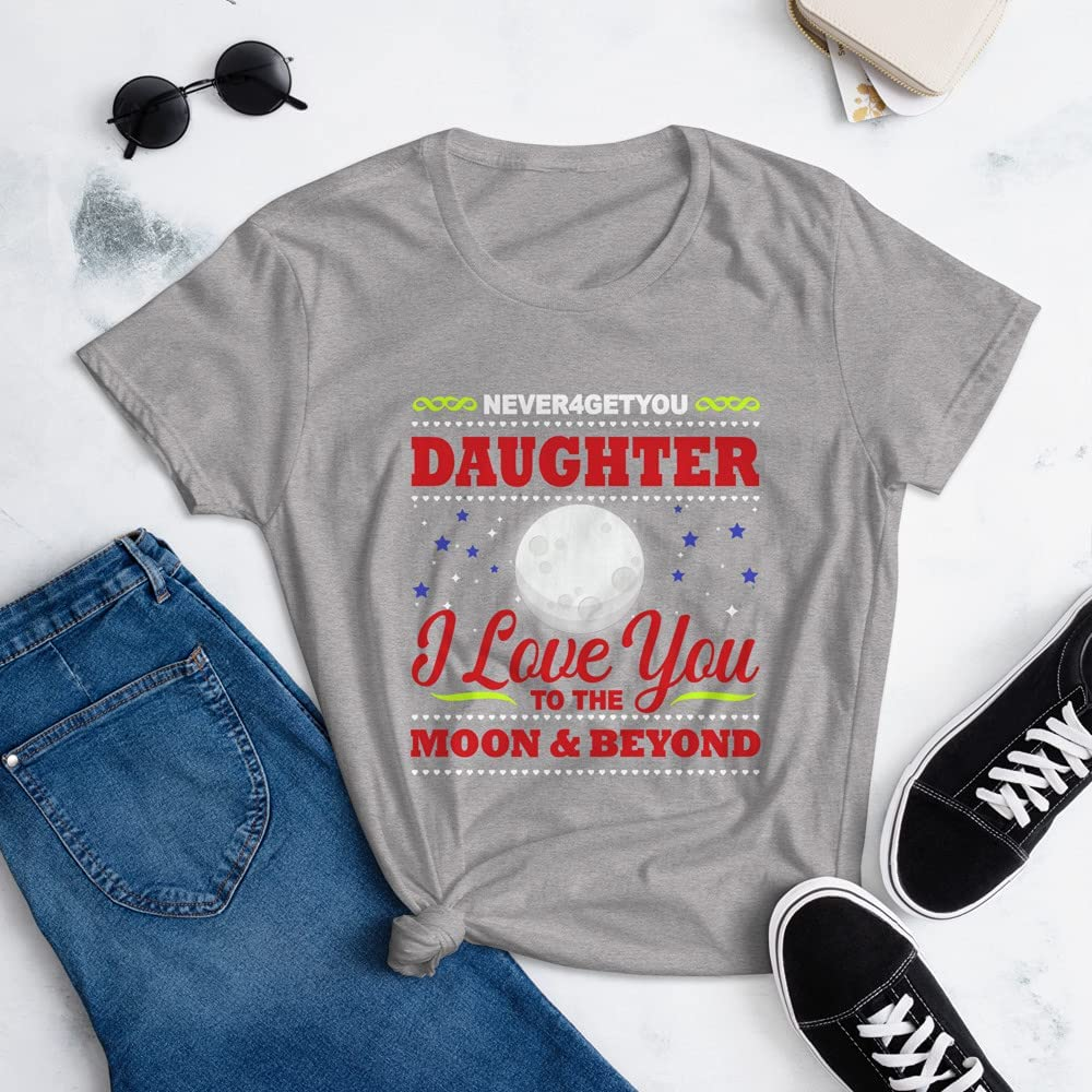 NEVER4GETYOU Daughter Popular shop is the lowest price challenge Weekly update - Women's Short t-Shirt Gre Heather Sleeve