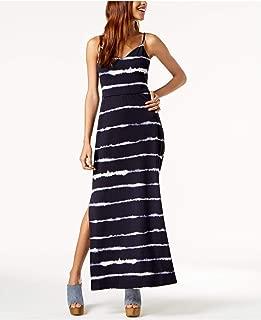 $59 Womens New 1245 Navy Tie Dye Maxi Sleeveless V Neck Sheath Dress S B+B