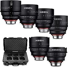 Rokinon's Xeen Cine Lens Bundle Including Xeen 14mm T3.1 Cine Lens, Xeen 24mm, 35mm, 50mm, 85mm T1.5 & 135mm T2.2 Professional Cine Lenses for Canon Mount Cameras by Rokinon