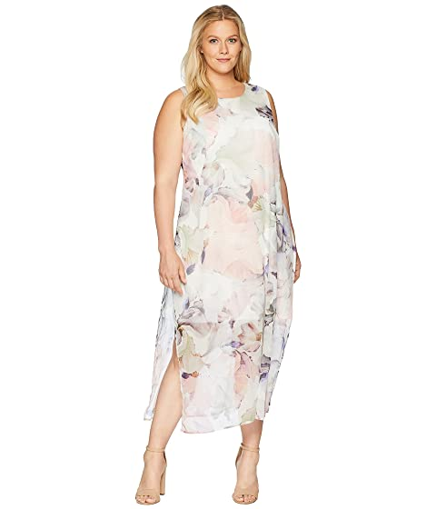 92e77e71acd5 Vince Camuto Specialty SizePlus Size Sleeveless Diffused Blooms Knit  Underlay Dress