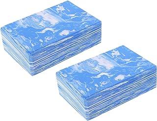 BESPORTBLE 2pcs Yoga Blocks Exercise Bricks Fitness Bricks EVA Foam Bricks Yoga Accessories for Pilates Meditation Blue