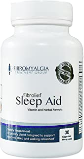 Fibrolief: All-Natural Sleep Aid - Works Fast - Safe for Fibromyalgia - No Grogginess and Non-Habit Forming - Alternative Sleep Aid Supplement - 30 Day Supply