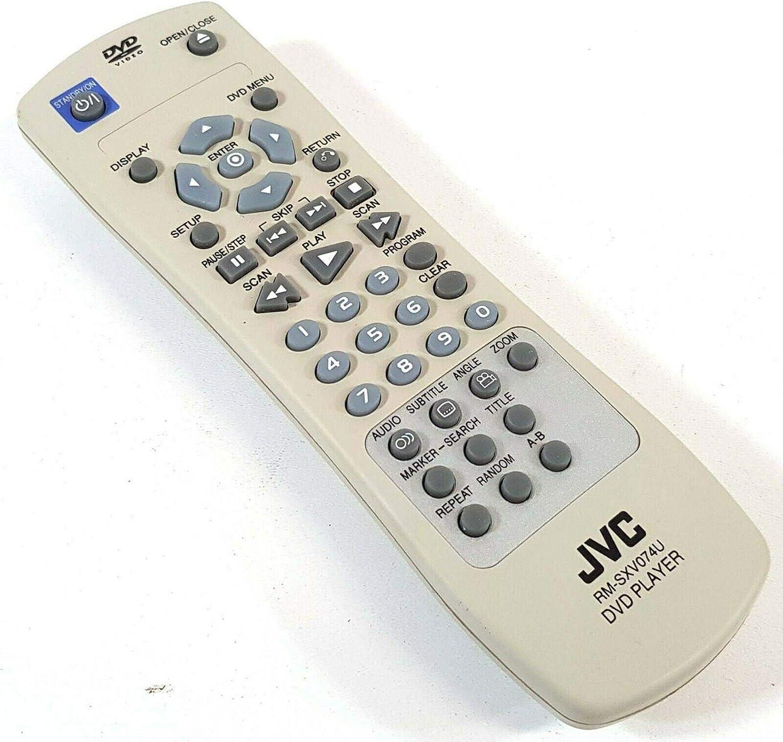 JVC RM-SXV074U DVD Memphis Mall Control Original Remote Ranking TOP18