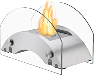 IGNIS Portable Ventless Bio Ethanol Tabletop Fireplace - Harbor Stainless Steel (Stainless Steel)