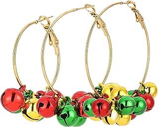 Christmas Drop Dangle Earrings Jewelry Set for Thanksgiving Womens Girls Kids Including Christmas Snowman Snowflake Abduct Deer Gift Box Sock Santa Claus Christmas Tree Bell Earrings