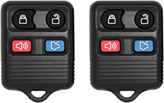 Keyless2Go New Replacement Shell Case and 4 Button Pad for Remote Key Fob with FCC CWTWB1U345 - Shell ONLY (2 Pack)