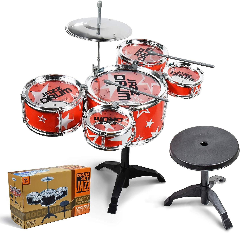 TOMMYHOME Rock Jazz Drum Denver Mall Set Limited price En Music for Kids.Mini