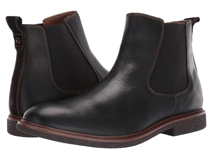 Lucky Brand  Brentwood (Black Bomber Jacket Leather) Mens Boots