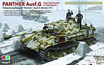 RFMRM5016 1:35 Rye Field Model Panther Ausf.G Sd.Kfz.171 (Early/Late Versions with Full Interior) [MODEL BUILDING KIT]