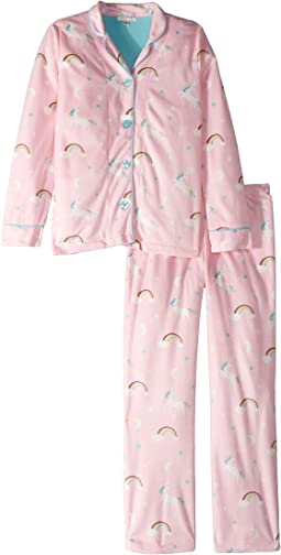 Notch Collar Unicorn PJ Set (Little Kids/Big Kids)