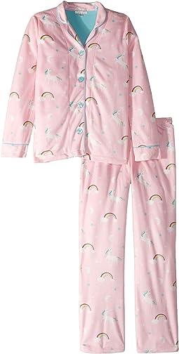 Notch Collar Unicorn PJ Set (Little Kids/Big Kids)
