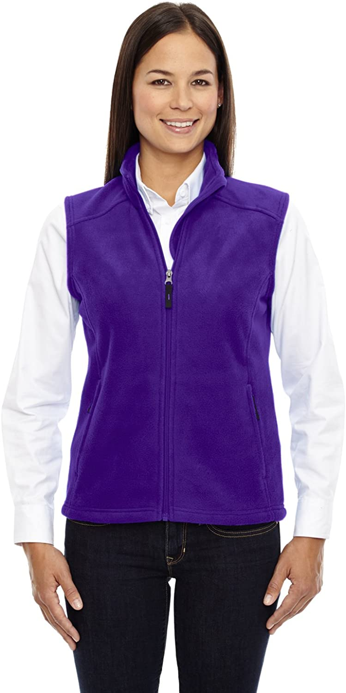 Ash City - Core 365 Core 365 Journey Ladies Zipper Fleece Vest, Campus Purple, X-Large