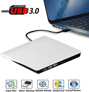 External DVD Drive, USB 3.0 Portable CD/DVD+/-RW Drive/DVD Player for Laptop CD ROM Burner Compatible with Laptop Desktop ...
