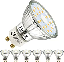 EACLL GU10 LED 5W 4000K neutraal wit lamp 495 lumen lamp kan 50W halogeen vervangen AC 230V geen strobe spot, stralingshoe...