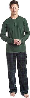 Men's Long Sleeve Pajama Shirt and Pants Set