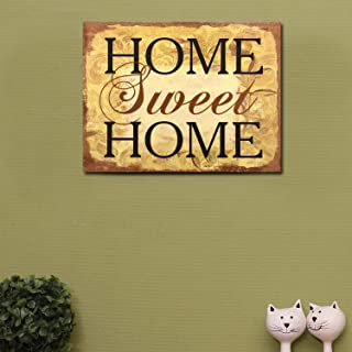 Adeco Decorative Wood Wall Hanging Sign Plaque Home Sweet Home Brown Gold Home Decor..