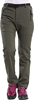 AbelWay Women's Outdoor Mountain Waterproof Windproof Fleece Ski Snow Pants Hiking Trousers