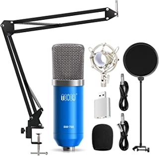 TONOR Professional Studio Condenser Microphone Computer PC Microphone Kit with 3.5mm..