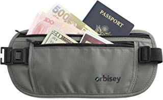 Orbisey Travel Adventure Hidden Waist Money Belt Water-Resistant for Passport, Credit Cards, Phone, Documents One-Size Fit...