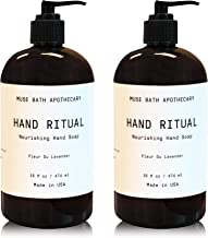Muse Bath Apothecary Hand Ritual - Aromatic and Nourishing Hand Soap, 16 oz, Infused with Natural Essential Oils - Fleur d...