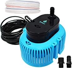 EDOU 850 GPH Swimming Pool Cover Pump Above Ground,Including 16` Drainage Hose and 3 Adapters,Ideal for Water Removal,Blue and Black