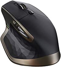 Logitech MX Master Wireless Mouse – Use on Any Surface, Ergonomic Shape, Hyper-Fast Scrolling, Rechargeable, for Apple Mac...