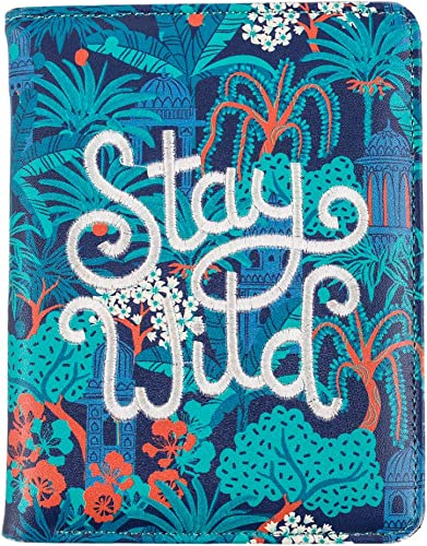 Stay Wild Embroidered Passport Holder