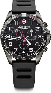 Victorinox Men's FieldForce Sport Stainless Steel Swiss Quartz Watch with Rubber Strap, Black, 21 (Model: 241889)