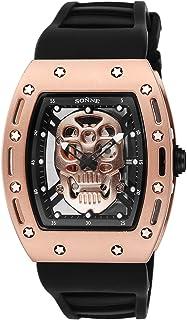 [ゾンネ]SONNE 腕時計 S160シリーズ ゴールド文字盤 ラバーベルト S160PG-BK メンズ