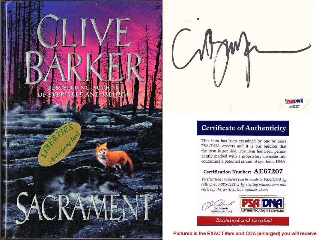Clive Bargain Barker Signed - Autographed Hardco SACRAMENT First Edition Ranking TOP13