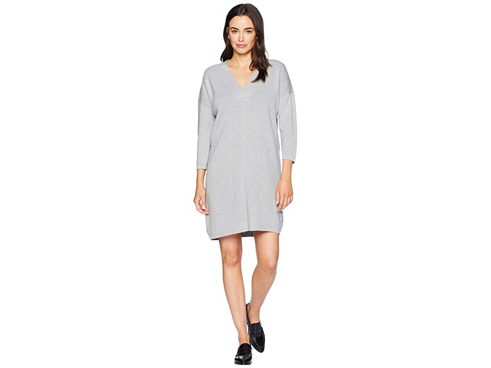 Lilla P 3/4 Sleeve Dress (Heather Grey) Women