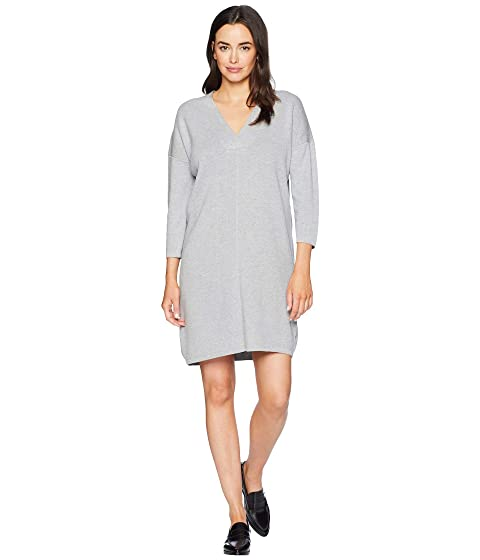 LILLA P 3/4 Sleeve Dress, Heather Grey