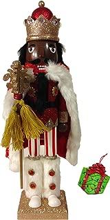 Distinctive Designs African American Winter King Large Unique Decorative Holiday Season Wooden Christmas Nutcracker & Bonus Tree Ornament