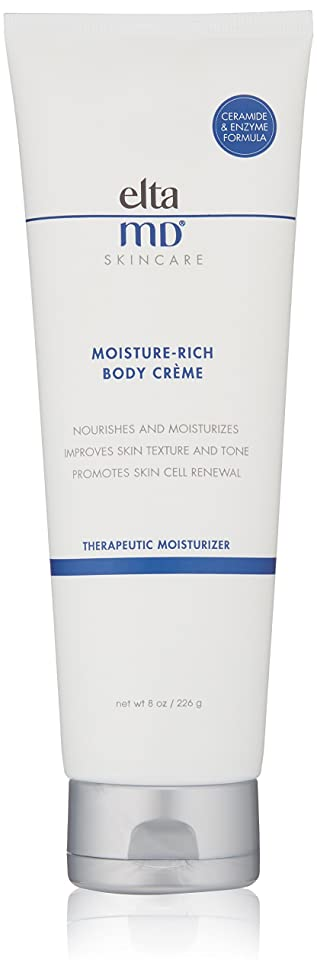 EltaMD Moisture-Rich Body Crème for Dry, Sensitive Skin, Dermatologist-Recommended Body Moisturizer, 8.0 oz