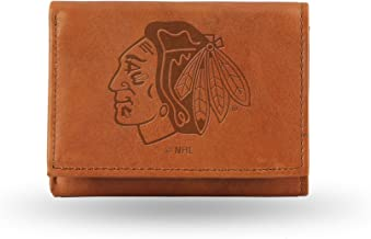 Rico Industries NFL Washington Redskins Embossed Leather Trifold Wallet, Tan