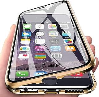 7c6bc9e7844 Eabhulie iPhone 6s Plus Funda, Metal Bumper con Adsorción Magnética + 360  Grados Vidrio Templado