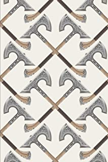 Viking Pattern - Crossed Axes Decoration: Blank Lined Notebook for Norse Mythology Lovers