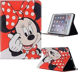 Microgadget iPad Mini 1 2 3 4 5 Flip Case Cover with Auto Sleep/Wake Function Stand Mickey Minne Disney Cartoon Kids iPad Case for Apple