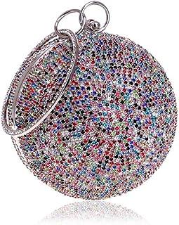 Fine Bag/Womens Ball Shape Diamante Evening Clutch Bag for Bridal Wedding Cocktail Handbag Prom Bag Banquet Bag (Color : Multi-Colored, Size : One Size)