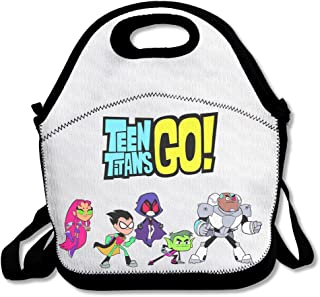 IEUBAG Lunch Bag Teen Titans Go Logo Lunch Tote Lunch Box For Women Men Kids With Adjustable Strap