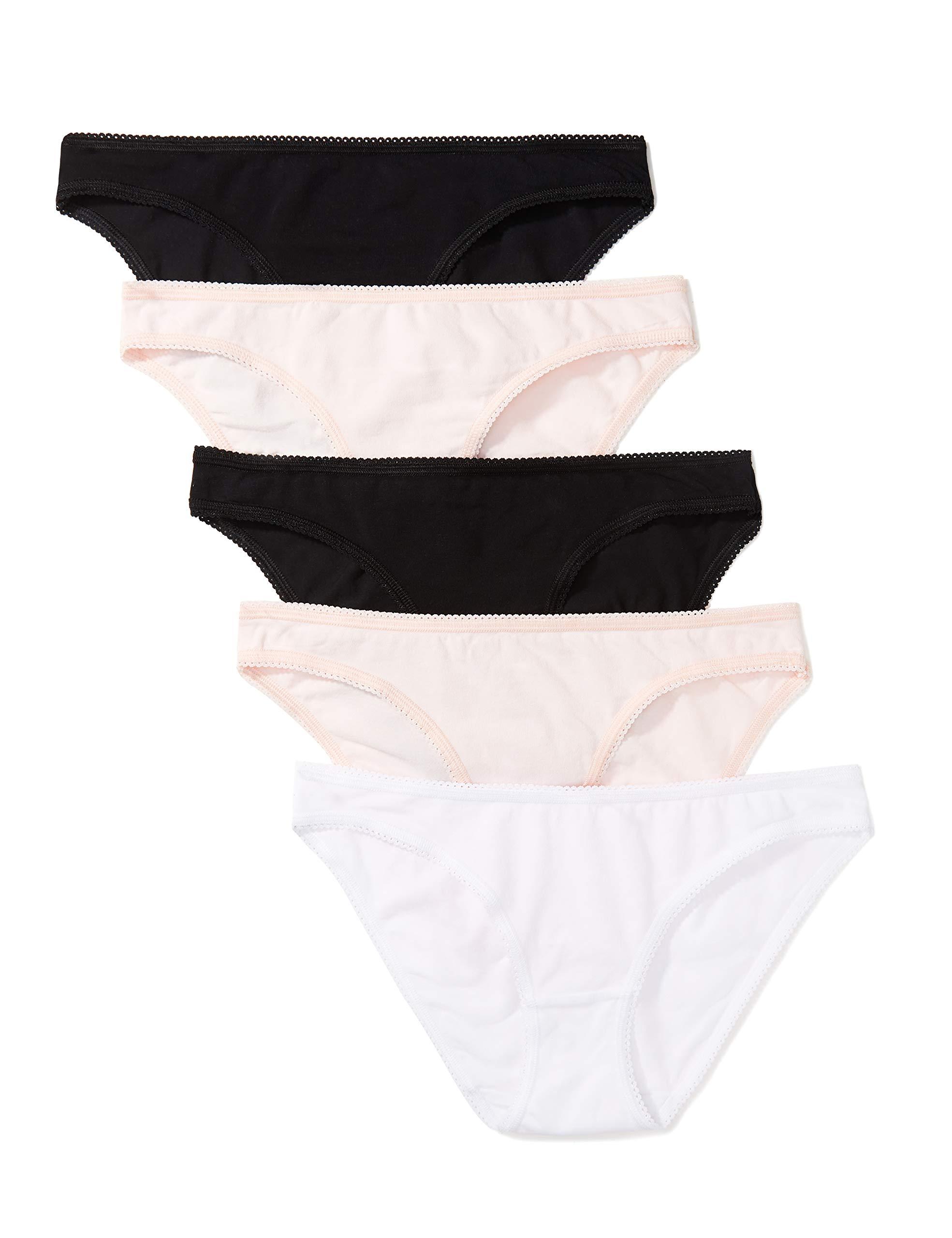 Iris /& Lilly Womens Cotton Bikini Brief Multipack