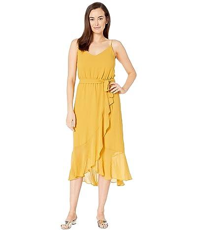 Vince Camuto Ruffled Hem Belted Cami Dress (Amber Sun) Women