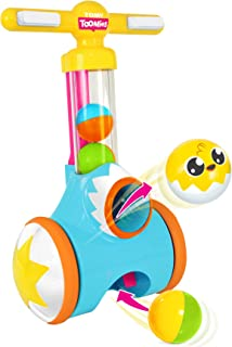 TOMY Toomies Pic and Pop - Walker Toy with ball launcher and collector - Suitable From 18 Months E71161 Multicoloured