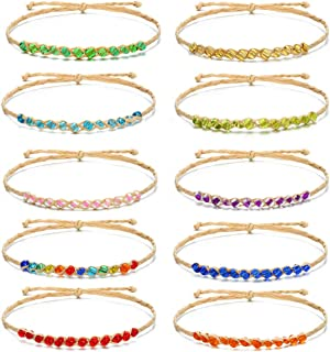 Friendship Wish Bracelets Set for Girls Handmade String Beaded DIY Accessory 10Pcs