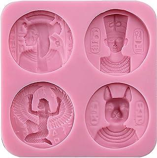 Musykrafties Antiguo Egipto Monedas Inspirado Dulces de Chocolate Molde de Silicona para Tarta Decoración, Manualidades