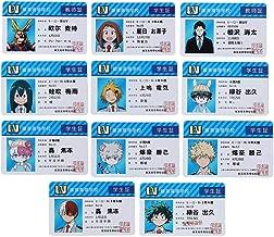 Beautymei Anime My Hero Academia Manga PhotoCard Poker Cards Playing Cards LOMO Card Gift Card Stickers(11Pcs)