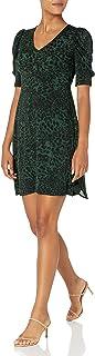Lark & Ro Women's Ruched Sleeve V Neck Knit Dress