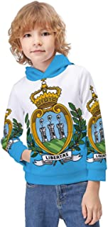 Kid's Novelty Sweater Realistic Basketball Court Pattern Hoodie Teen's Long Sleeve Sportswear Fleece Hood Pullover-