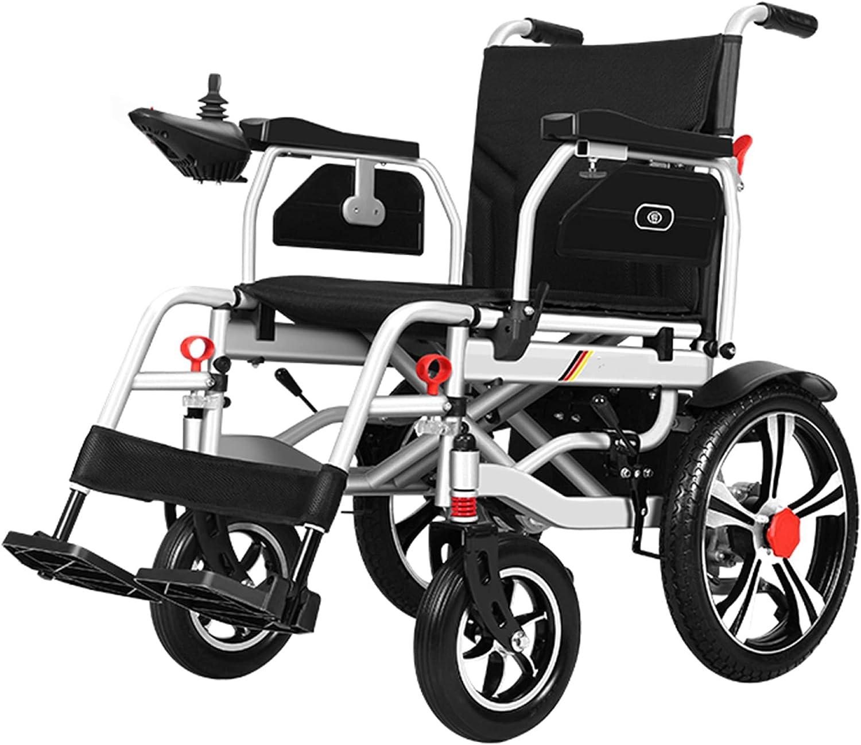Silla de ruedas eléctrica, estructura principal de acero, scooter para personas mayores, potente asiento de rueda auxiliar móvil compacto de doble motor para discapacitados/Como se muestra / 6